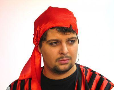 Piratenhaube Seemann Haube rot  Karneval Fasching
