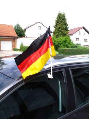 Deutschland Autofahne ca. 40 x 25 cm  Karneval Fasching