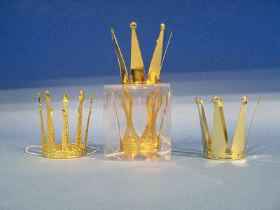 Metallkrone gold  Karneval Fasching