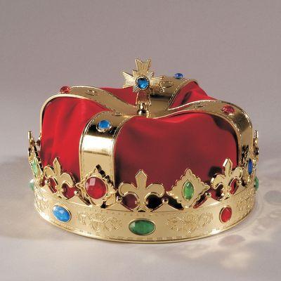 König von Mallorca Kronegold mit Samt Königskrone King