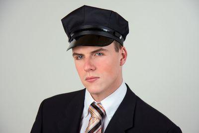 Chauffeursmütze schwarz Karneval