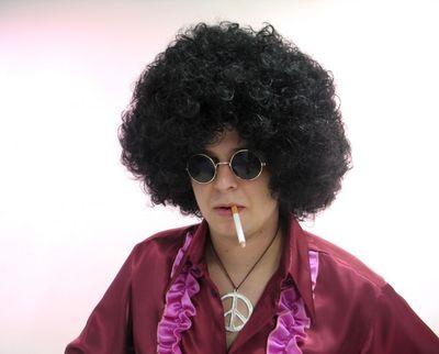 Afro Perücke BOB 70er Jahre Karneval Fasching schwarz