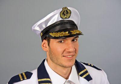 Kapitänsmütze Offizier zur See Commodore Hut Seefahrt