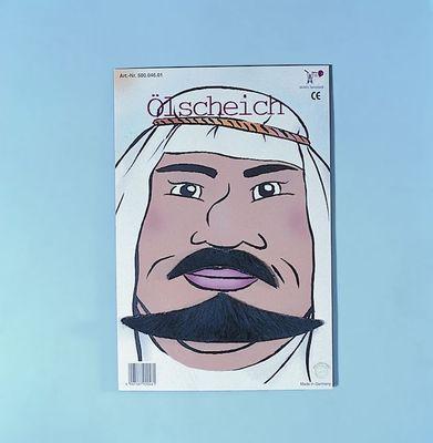 Bart für Erwachsene Ölscheich Scheich Sultan schwarz