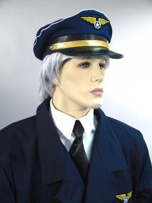 Pilotenmütze Uniformmütze Karneval Fasching