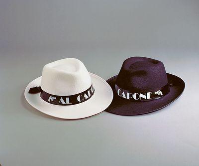 al Capone Gangsterhut Gangster schwarz Hut Karneval