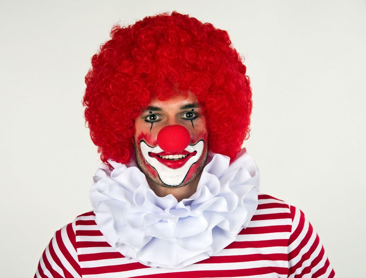 Clownkragen Weiss Dreilagig Clown Kostum Karneval