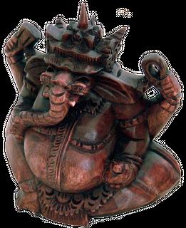 Ganesha, Holz-Skulptur Asien