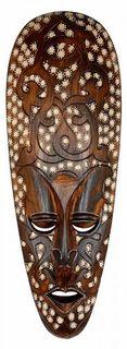 Maske ARIS 50 cm, Holz-Maske aus Bali, Wandmaske