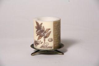 Servietten-Kerze KAFFEE-Zylinder M - 10,5 x 12 cm