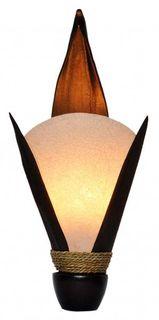 Dekoleuchte ARTO, Wandlampe aus natürlichem Material, Stimmungsleuchte