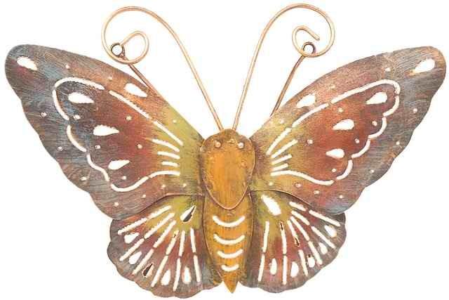 Deko Schmetterlinge Für Die Wand deko-schmetterling look, metall, wandschmuck, wand-deko bilder