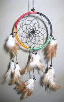 Dreamcatcher Gute Träume Ø ca. 10 cm - Traumfänger in Rasta-Farben
