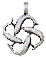 Gothic-Anhänger Delphinkreuz