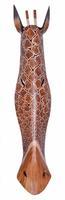 Maske Giraffe 100 cm, Holz-Maske aus Bali, Wandmaske