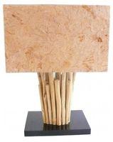Deko-Leuchte ANTIQUE WOOD, Tisch-Lampe aus Holz, Stimmungsleuchte