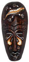 Maske bemalt 20 cm, Holz-Maske aus Bali, Wandmaske