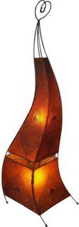 Deko-Leuchte Maura, Leder-Lampe