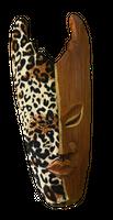 Maske Batik bemalt 20 cm, Holz-Maske aus Bali, Wandmaske