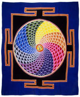 Wandtuch  Mandala , Batiktuch, 100 x 100 cm