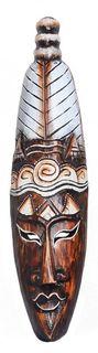Maske Keno, Man, 50 cm, handgearbeitete Holz-Maske aus Bali, Wandmaske