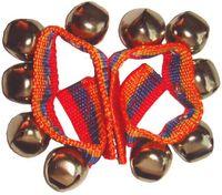 Schellenband im 2-er Set für Arm- oder Fusgelenke mit Klettverschluss und 5 Schellen, Länge ca. 23 cm
