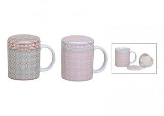 Teetasse im Retro-stil mit Sieb, 2 Farben