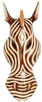Maske Zebra 30 cm, Holz-Maske aus Bali, Wandmaske