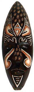 Maske bemalt 30 cm, Holz-Maske aus Bali, Wandmaske
