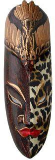 Maske Batik 50 cm, Holz-Maske aus Bali, Wandmaske