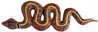 Deko-Schlange RED HEAD, Holz, Wandschmuck, bemalt