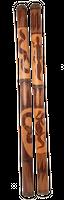 Didgeridoo aus Bambus, beschnitzt