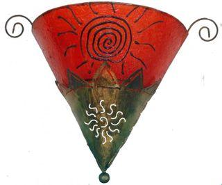 Deko-Leuchte TRIA, Wand-Lampe aus Metall und Resin, dreieckige Form