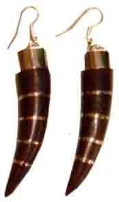 Ohrringe aus Sonor-Wood/Edelstahl