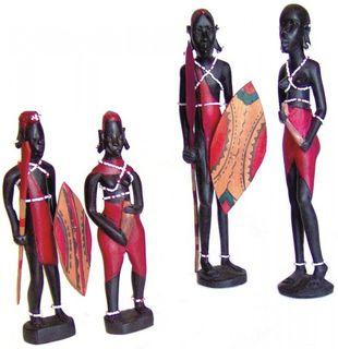 Massai - Pärchen, Afrika Holz-Skulptur