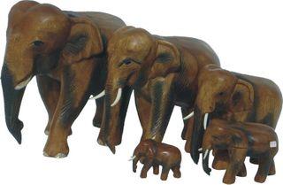 1 Elefant laufend, Holz-Elefant