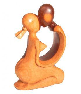 Abstrakte Schnitzerei aus Waru Lot - Holz-Skulptur 10 cm