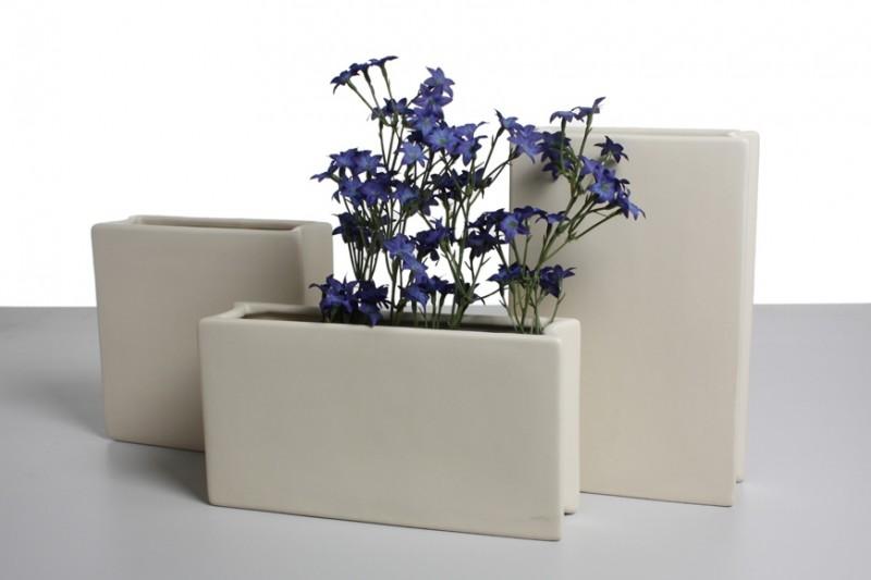 design vase book keramik creme matt vasen modern. Black Bedroom Furniture Sets. Home Design Ideas