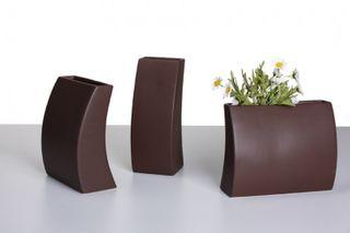 Design-Vase MIA, Deko-Vase, Keramik, mocca
