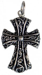 Gothic-Anhänger Verziertes Kreuz, mystischer Schutz-Anhänger
