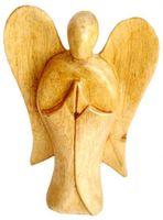 Engel handgeschnitzt aus Krokodil-Wood, Holz-Engel