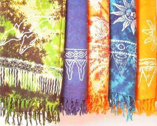 Sarong STAMPBATIK, Pareo, Hüfttuch, Wickelrock, Strandtuch verschiedene Farben und veschiedene nicht wählbare Motive