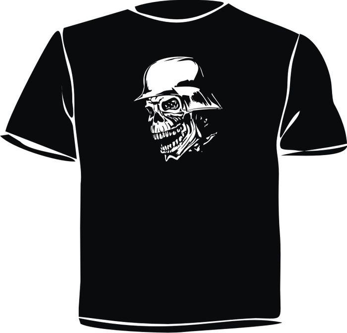 """T-Shirt bedruckt """" Totenkopf """" 044"""