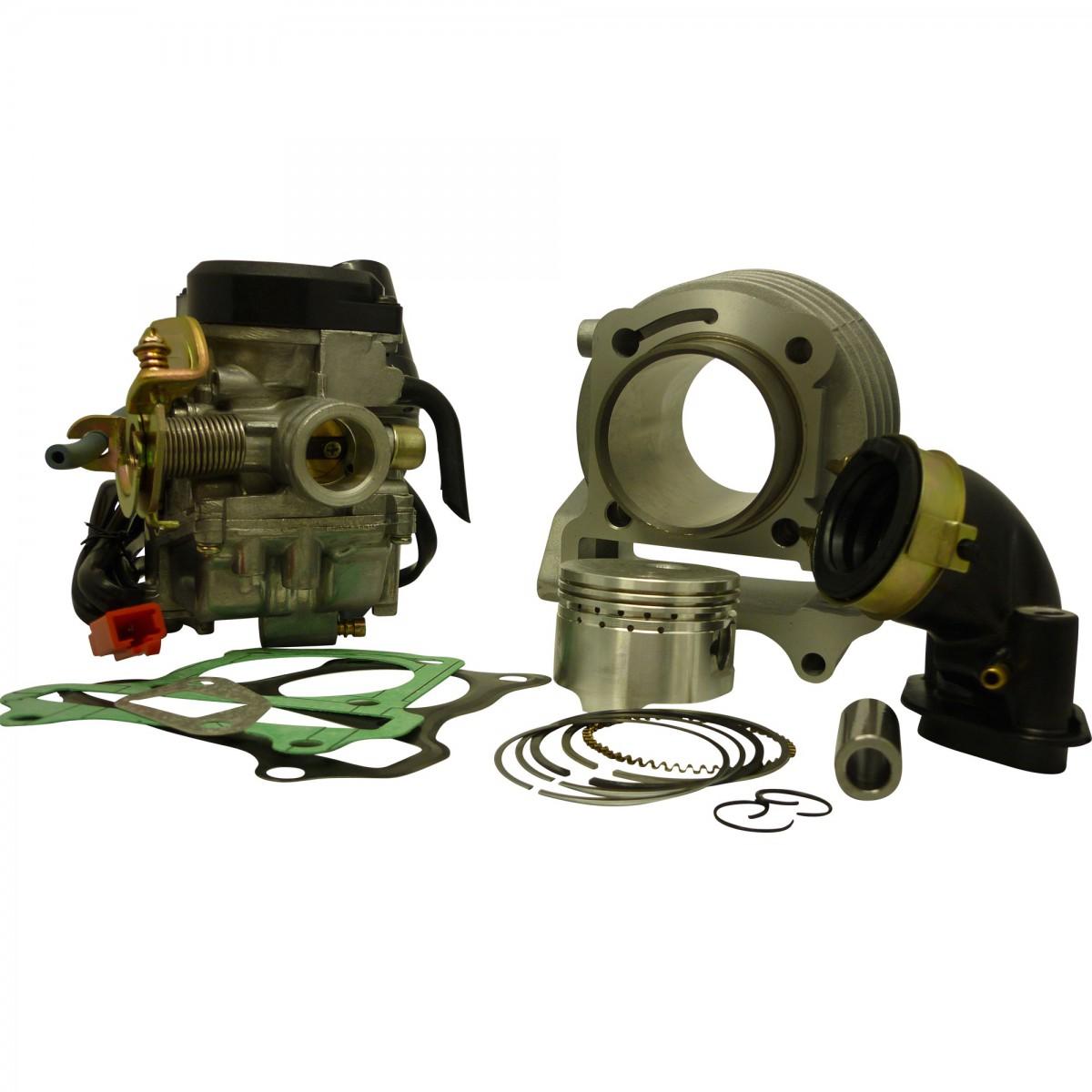 Tuning-Kit,80ccm Zylinder, 19mm-Vergaser+Ansaugstutzen