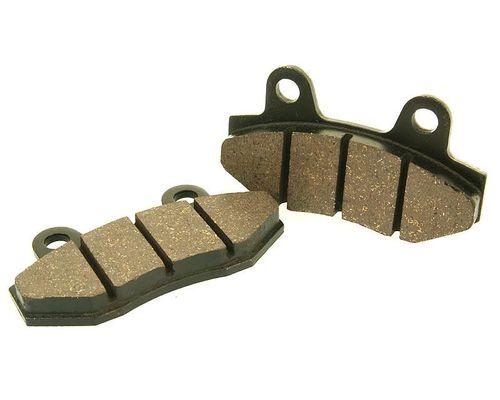 1 Satz Bremsklötze Bremsbeläge organisch - für Sattel mit Doppelzylinder