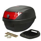 Produktbild Topcase KXM 28L schwarz (rote Scheibe) incl. Befestigungsplatte