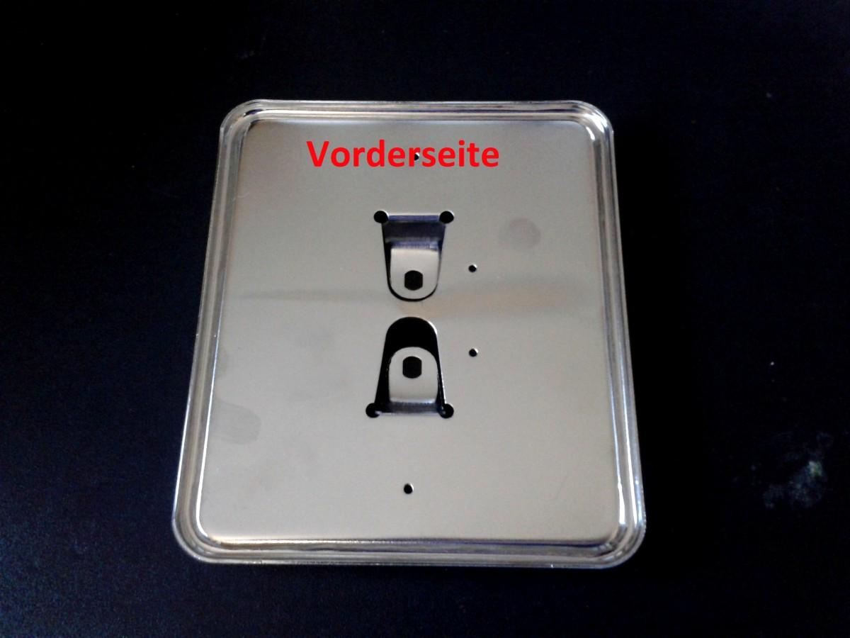 Kennzeichenhalter Nummernschildhalter Chrom 125x145mm
