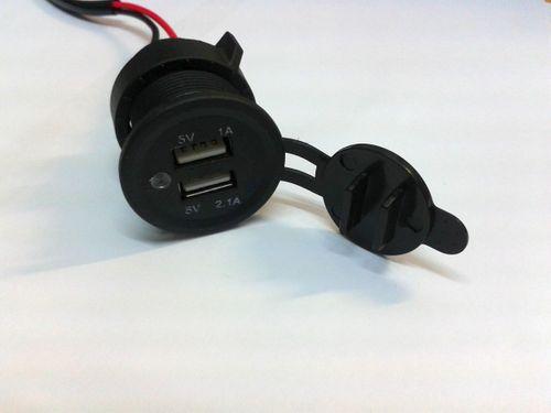 USB-Doppelsteckdose 12V/5V 1A/2.1A