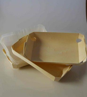 Holzbackform flach - 3er Set für 500g/750g Brote