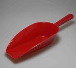 Mehlschaufel aus Kunststoff 35 cm - rot